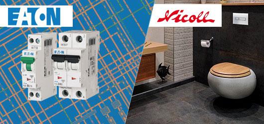 Disjoncteur EATON et accessoires WC Nicoll